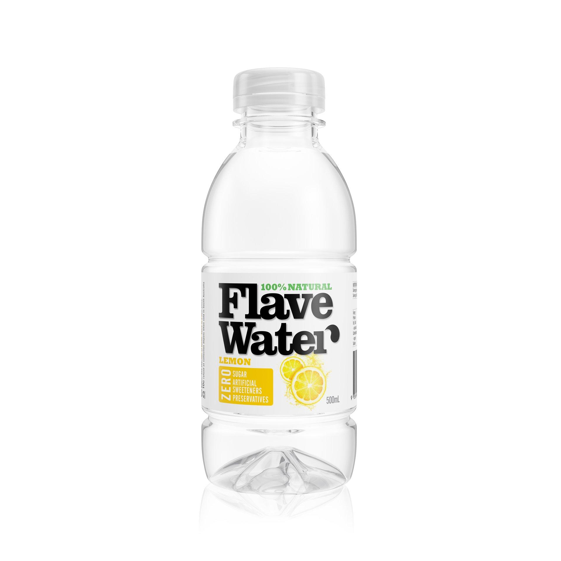 FlaveWater lemon packaging