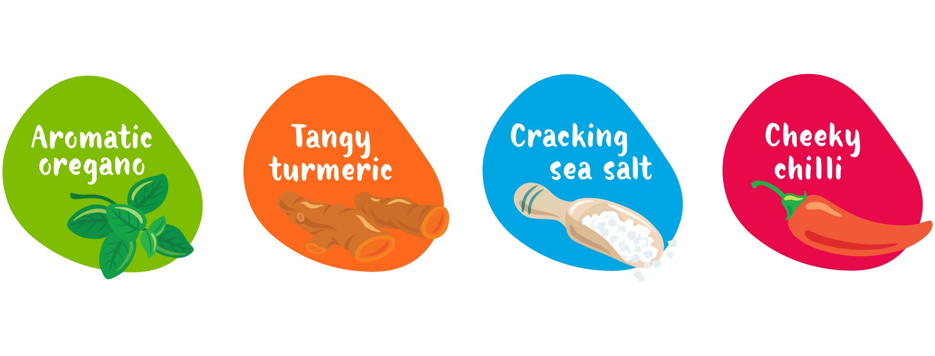 superfood packaging illustration Beanopini