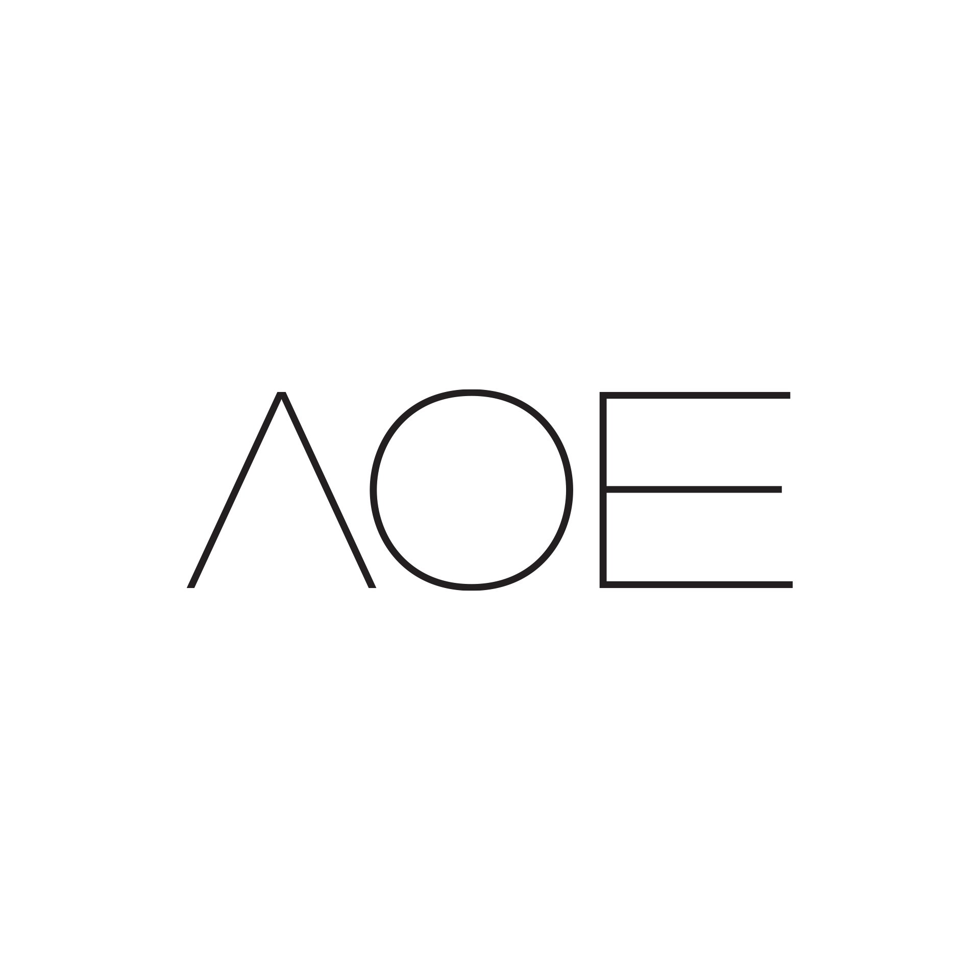 AOE wedding album identity design logo