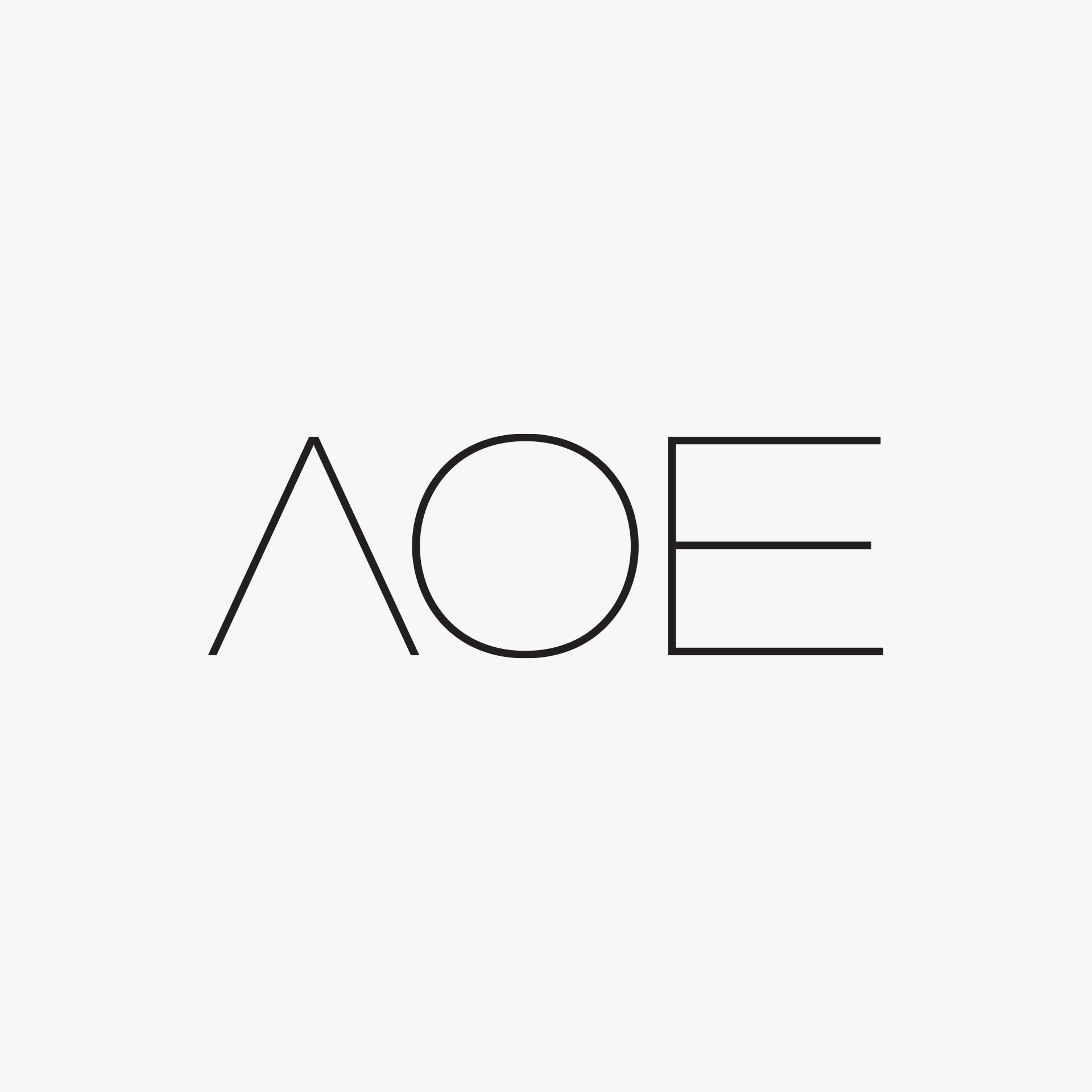 AOE identity design grey logo