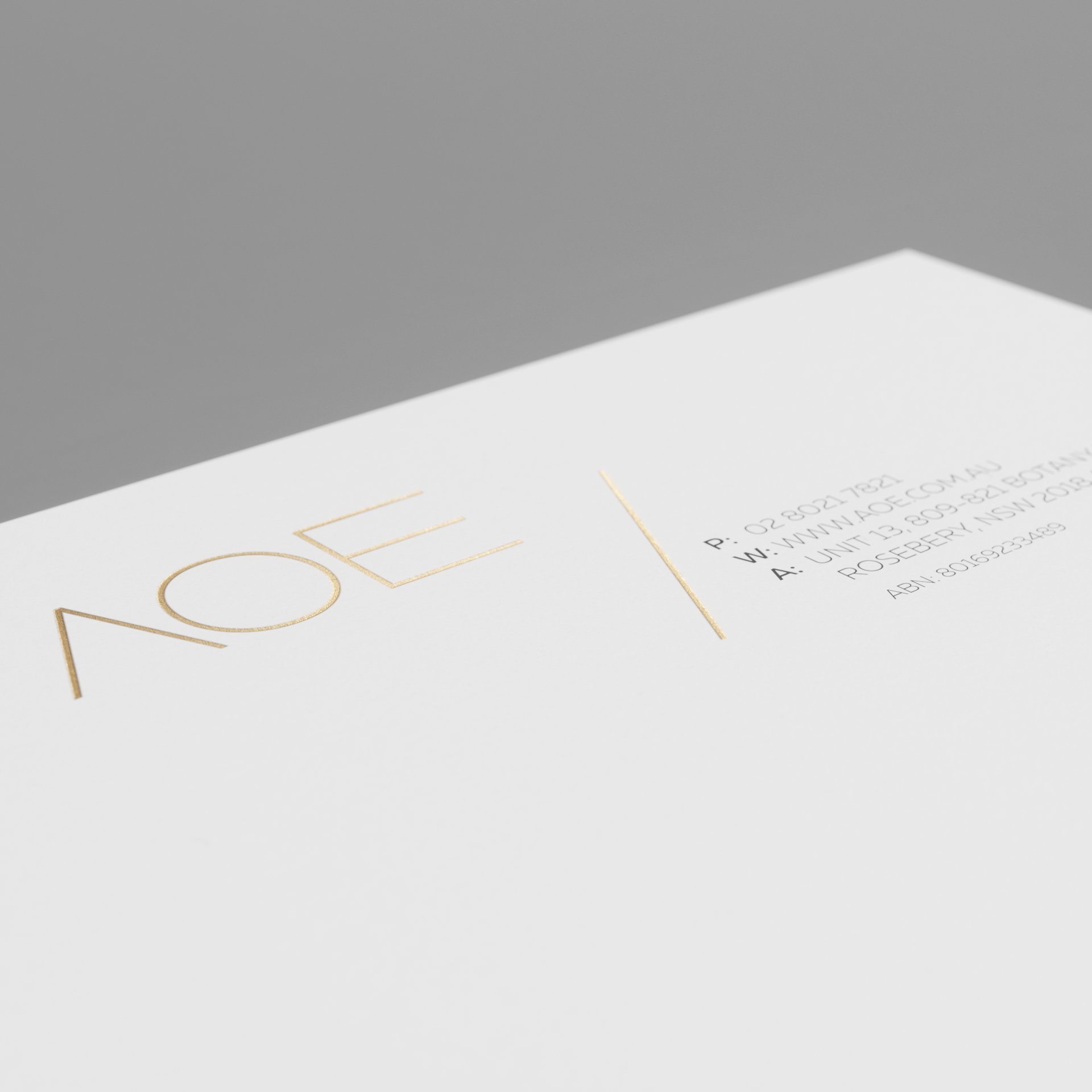 identity design AOE stationery