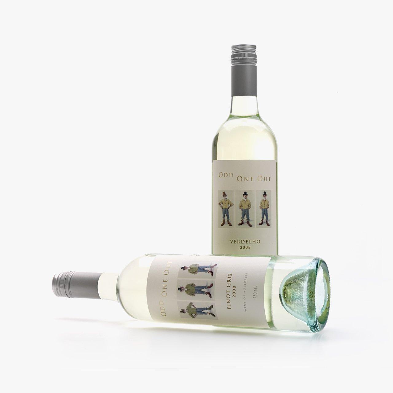 wine illustration OddOneOut bottles